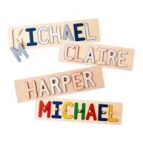 South Bend Woodworks Kids Personalized Wooden Name Puzzle – Up to 12 Characters