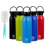 BOGI 20oz Insulated Water Bottle Double Wall Vacuum Stainless Steel Sports Water Bottle Leak Proof Standard Mouth with BPA Free Flex Cap for Outdoor Sports Climbing Camping Hiking