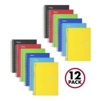 """Five Star Spiral Notebooks, 1 Subject, College Ruled Paper, 100 Sheets, 7"""" x 5"""", Personal Size, Assorted Colors, 12 Pack (38029)"""