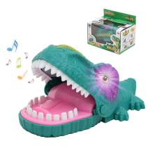 LESONG Dinosaur Toys for Kids, Dino Bite Finger Toy with Light Up Eyes & Sounds for Toddler & Adult, Perfect and Fun Party Game for Birthdays, Best Gift for Boy & Girl up 2, 3, 4, 5 Years Old