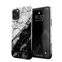 BURGA Phone Case Compatible with iPhone 11 PRO - Fatal Contradiction Black and White Marble Yin and Yang Cute Case for Woman Thin Design Durable Hard Plastic Protective Case