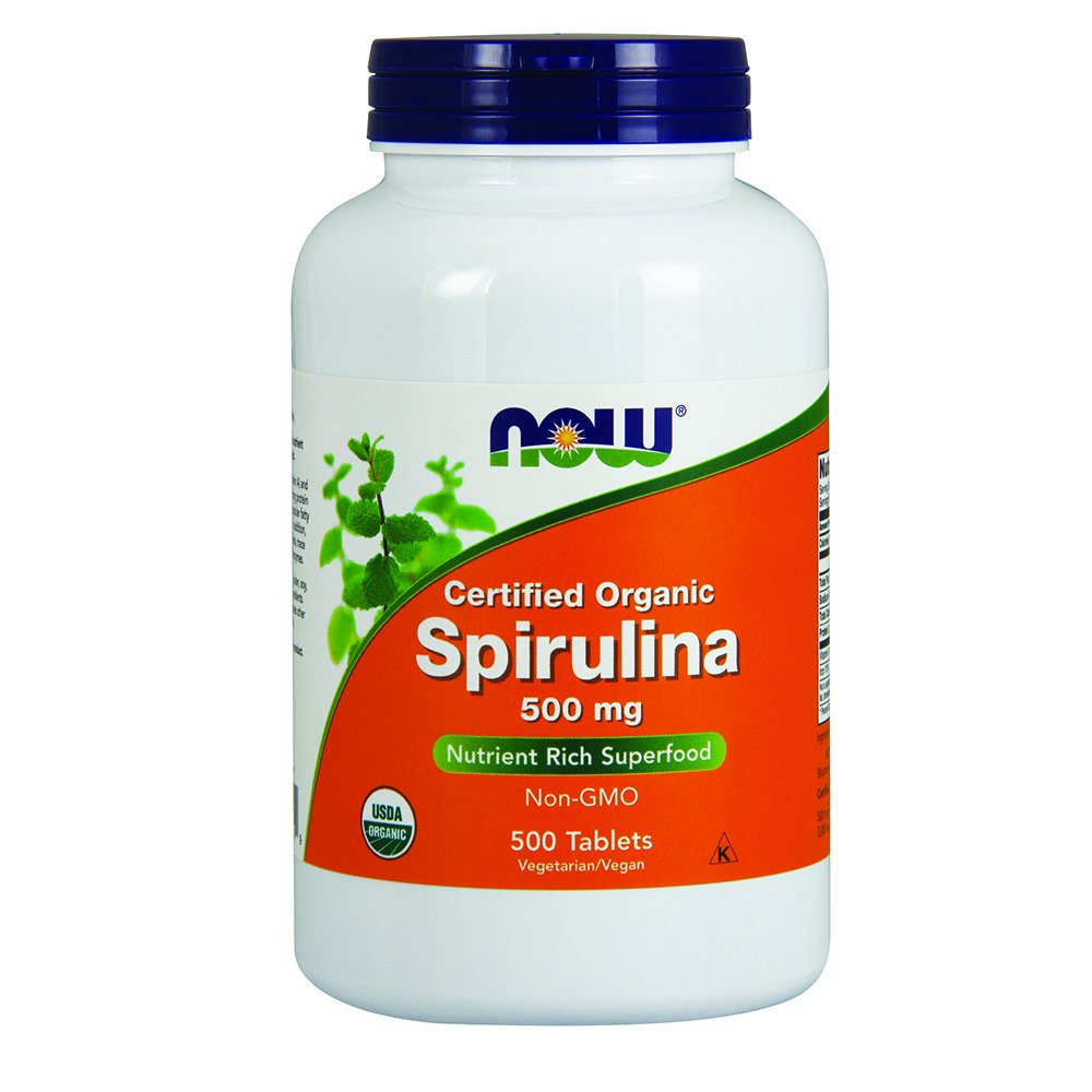 NOW Spirulina 500 mg,500 Tablets