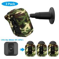 Blink XT2 Camera Wall Mount Bracket, Weather Proof 360° Protective Plastic Housing Cover Case and Adjustable Metal Mount for Blink XT/ XT2 Indoor Outdoor Home Security Camera System (Camo(3 Packs))