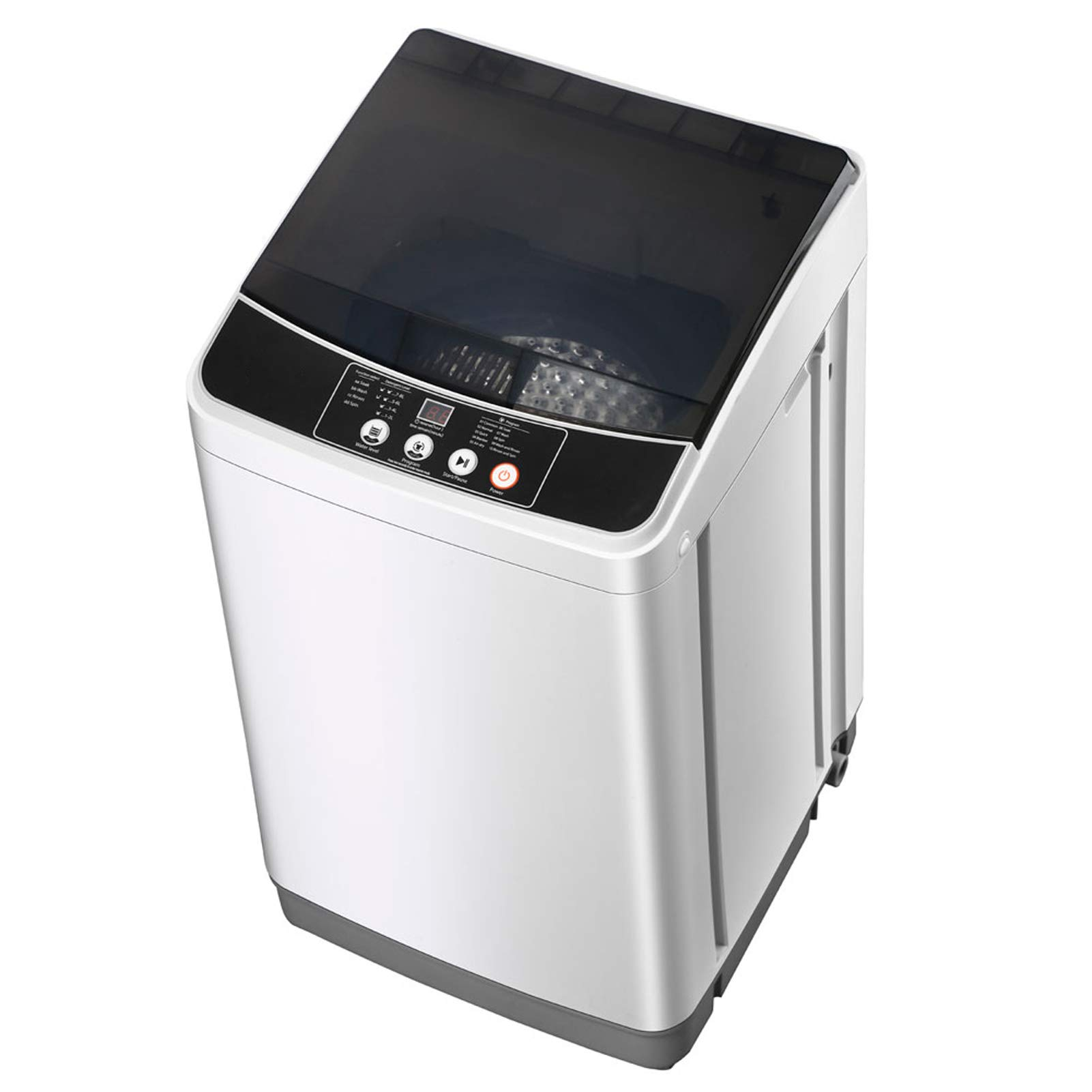 Portable Washing Machine with Spin Dryer, 10lbs Automatic Portable Washer Dryer Combo, 10 Programs 8 Water Level, LED Display, Laundry Machine w/Drain Pump, Clothes Washer for Apartments, RVs, Dorm