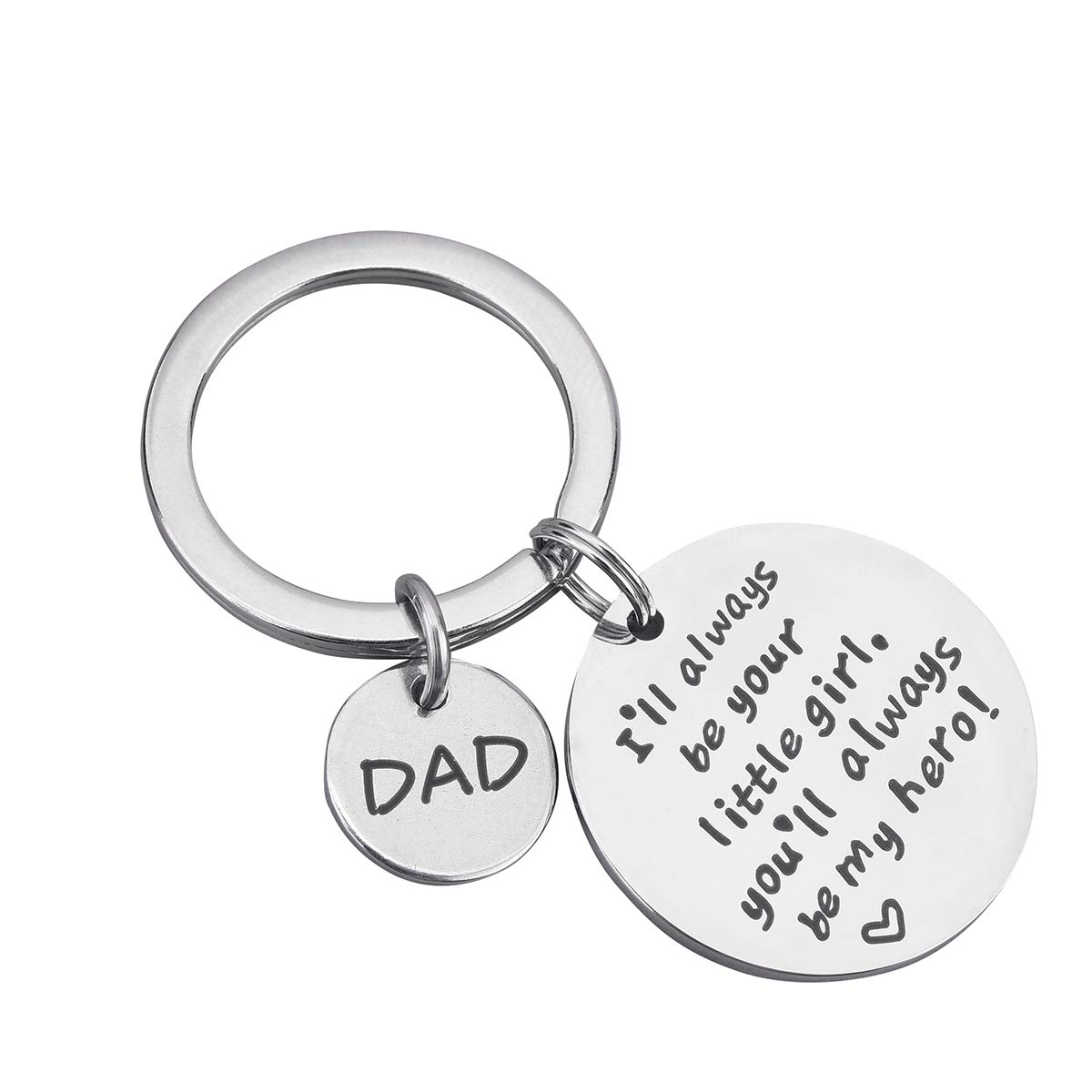 Dad Gifts keychain Father Day Birthday Personalized Jewelry Keychain from Son Daughter Teens