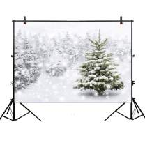 Allenjoy 10x6.5ft Christmas Xmas New Year Photography Backdrop Background Snow Trees Holiday Party Decorations Winter Forest Baby Shower Snowflake Pine Snowy Photo Booth Props Supplies