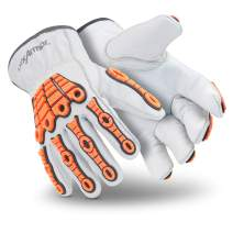 HexArmor Chrome SLT 4060 Leather Safety Gloves with Impact Protection, X-Small