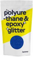 Hemway Metallic Glitter Floor Crystals for Epoxy Resin Flooring (500g) Domestic, Commercial, Industrial - Garage, Basement - Can be Used with Internal & External (Sapphire Blue)
