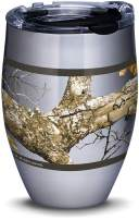 Tervis 1323275 Realtree - Edge Stainless Steel Insulated Tumbler with Lid, 12 oz, Silver