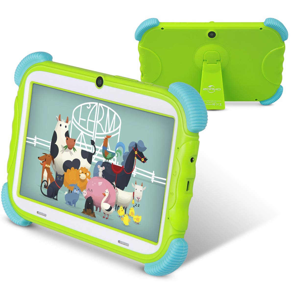 Kids Tablet, 7 inch Android 8.1 Tablet for Kids, 16GB with WiFi, Preinstalled Educational APP Quad-Core Processor, IPS HD Display, Bluetooth, Green