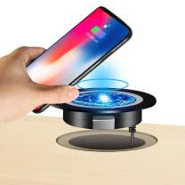 JE Desk Wireless Charger, Desktop Grommet Power Charging Pad Compatible iPhone11/11Pro/11Pro Max/Xs/XR/XS/X/8/8 Plus, Galaxy Note, All Enabled Phones