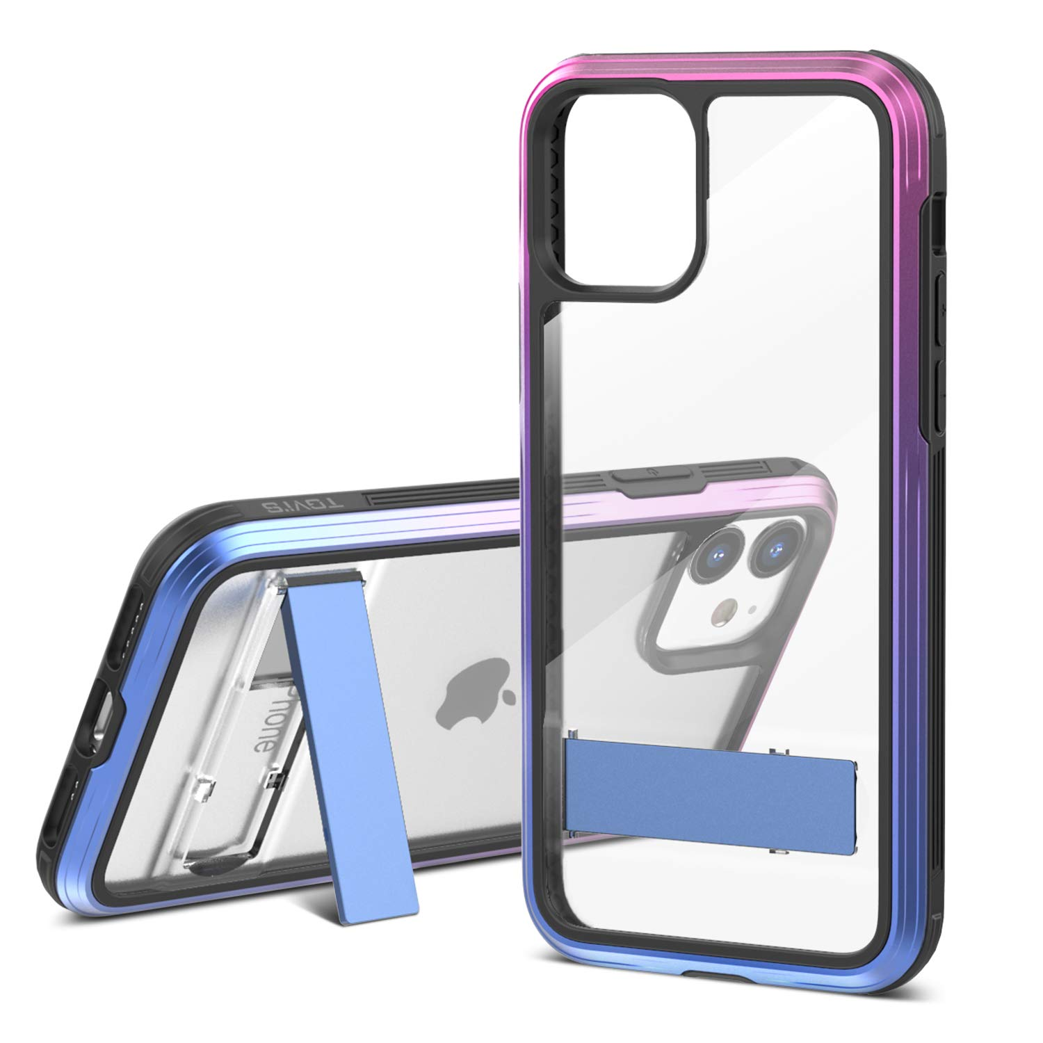 TGVi's Case for iPhone 11 Phone Case, Military Grade 12ft Drop Tested Protective Case with Kickstand, Support Wireless Charging, Shock-Proof, PC + TPU Material Case Compatible for iPhone 11, Neon