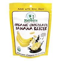 NATIERRA Organic Chocolate-Covered Freeze-Dried Banana Slices 2.5oz