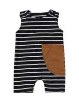 Walsoner Newborn Infant Baby Boy Girl Overalls Romper Jumpsuit Suspender Pants One-Piece Outfit Summer Fall Clothes