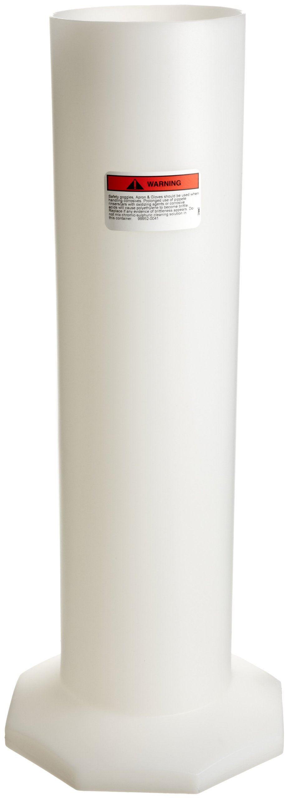 Bel-Art Polyethylene Pipette Jar (6 x 24 in.) for Cleanware Pipette Rinsing System (F17130-0024)