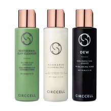 CIRCCELL Daily Basics Trio - Geothermal Clay Cleanser, Mandarin Cleansing Milk and Dew pH Perfector Set