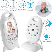 """Video Baby Monitor Wireless Camera+2 Way Talk Back Audio+Night Vision+Temperature Sensor+8 Lullaby+2"""" LCD Screen+Baby Pet Surveillance Monitor Audio for Home Security, No WiFi Needed"""