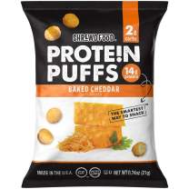 Shrewd Food Keto Protein Puffs, Low Carb, High Protein, Healthy Cheese Puff, 14g per Pack, 2g Carbs, Gluten Free Snacks, Real Cheese, Soy Free, Peanut Free, Baked Cheddar, 8 Pack