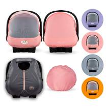 Cozy Combo Pack (Pink Grapefruit) – Sun & Bug Cover Plus a Lightweight Summer Cozy Cover - Trusted by Over 6 Million Moms Worldwide – Protects Your Baby from Mosquitos, Insects, The Sun, Wind