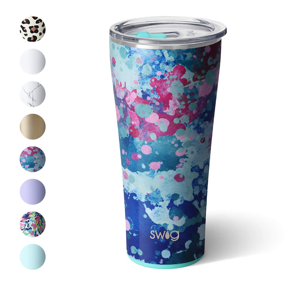 Swig Life 32oz Triple Insulated Stainless Steel Tumbler with Lid, Dishwasher Safe, Double Wall, and Vacuum Sealed Travel Coffee Tumbler in our Artist Speckle Pattern (Multiple Patterns Available)