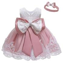 Baby Kids Girl's Dress Toddler Birthday Cute Big Bowknot Christening Dress 0-10 Years