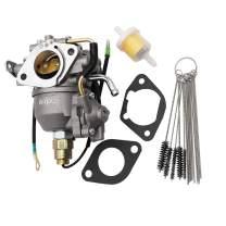 KIPA Carburetor for Kohler CV730 S CV740 S 25 Hp 27 Hp Engine Tractor Mower 24853102-S, with Carbon Dirt Jet Cleaner Tool Kit & Fuel Filter Mounting Gaskets