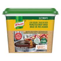 Knorr Professional Ultimate Low Sodium Beef Stock Base Gluten Free, No Artificial Flavors or Preservatives, No added MSG, Colors from Natural Sources, 1 lb, Pack of 6