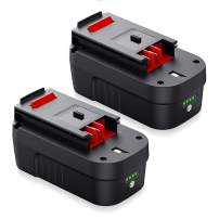 Powerextra 2Pack 5.0Ah 18 Volt Replacement Battery for Black&Decker A1718 A18NH HPB18 HPB18-OPE