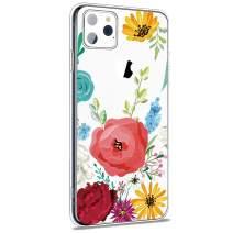iPhone 11 Pro Case Flower, Girl Women Floral Pattern Clear TPU Slim Case 5.8 inch