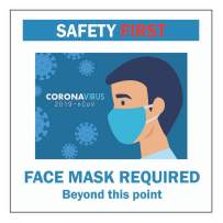 Face Mask Required Sign – Pack of 3 Static Cling Sign 5.5x5.5 Inches Face Mask Required to Enter Decal Sticker Restaurant Grocery Store Coffee Shop Business (3)