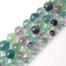 AAA Natural Colorful Fluorite Round Beads for Jewelry Making 15inches 8mm Healing Power Beads Gemstone