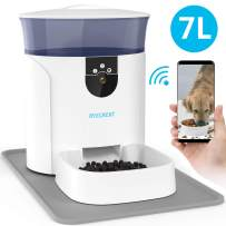 Automatic Dog Feeder with Camera, XYZCREAT 7L Auto Cat Feeder Food Dispenser for Small & Medium Pets, Smart Pet Feeder supports Voice and Video Recording, Programmable Timer for up to 10 Meals Per Day