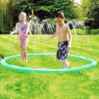 JUOIFIP Sprinkle & Spray Play Ring Toy Splash Sprinkler Summer Inflatable Outdoor Water Sprinkler Lawn Party Beach Pool for Infants Toddlers & Kids