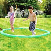 JUOIFIP Sprinkle & Spray Play Ring Toy Splash Sprinkler Summer Inflatable Outdoor Water Sprinkler Lawn Party Beach Pool for Infants Toddlers & Kids