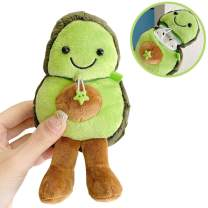 SGVAHY Fluffy Case Compatible with Airpods 1&2, Cute Avocado Soft Fur Furry Kawaii Fun Cool Mini Airpods Cover Case with Keychain Wireless Charging BoxAirpods 1 & 2 (Avocado Smile)