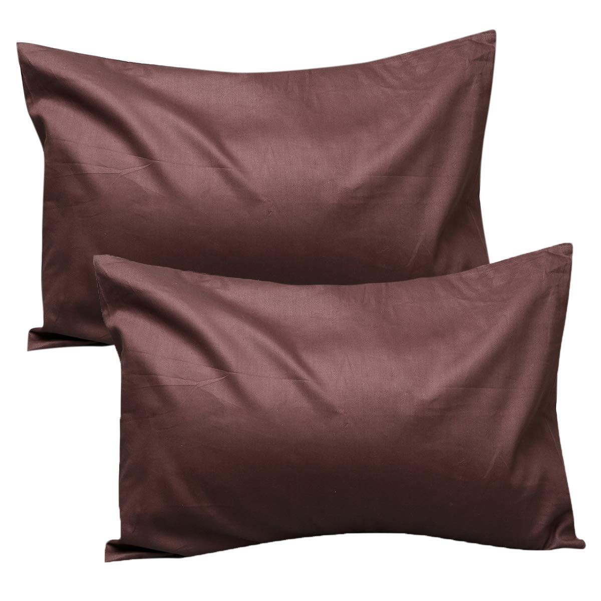 UOMNY Kids Toddler Pillowcases100% Natural Cotton Travel Pillowcase Cover with Envelope Closure 2 Pcs 14x20 Baby Pillow Cases for Sleeping Kids Solid Pillowcases Cases Brown Kids' Pillowcases