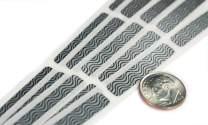 My Scratch Offs 0.25 x 1.375 Inch Silver Zebra Print Rectangle Security Scratch Off Label Stickers - 100 Pack