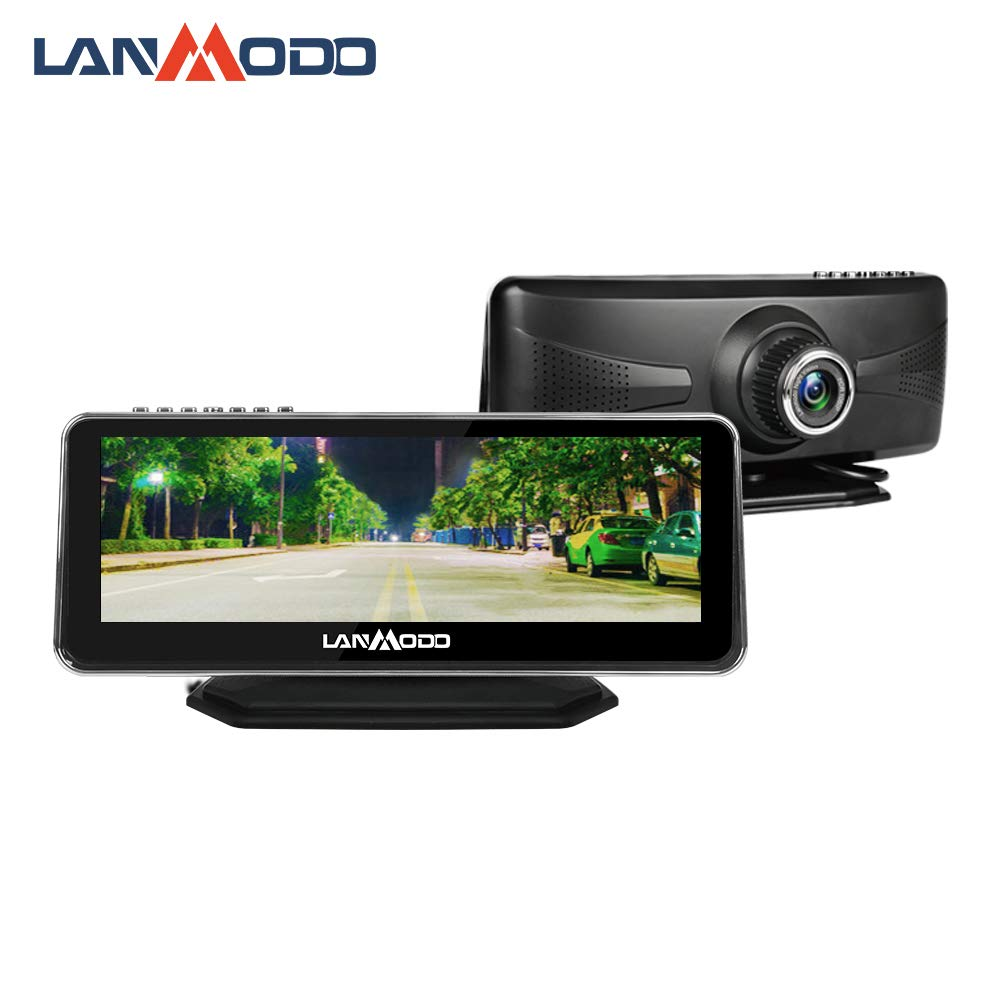 """LANMODO Car Night Vision Camera,Waterproof 8.2"""" HD Screen 1080P Full-Color Image at Night,Rain Day Active Infrared Night Driving Security Sony DSP Chip Inside,Night View Distance up to 984 ft/300M"""