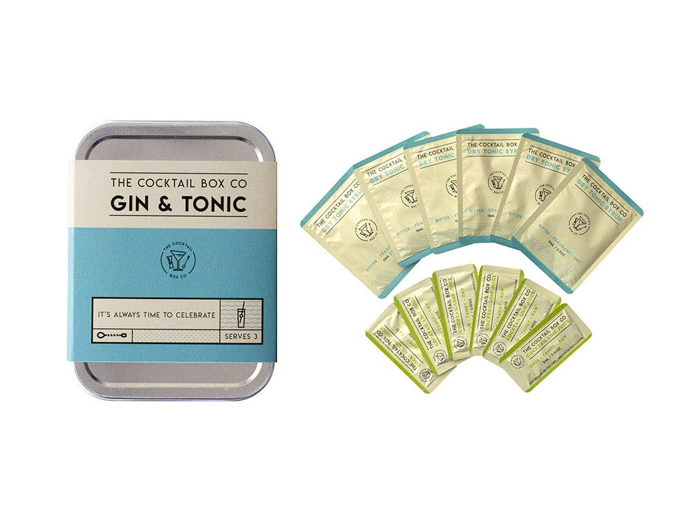 The Gin & Tonic from The Cocktail Box Co. - Makes Premium Hand Crafted Cocktails. Great gift for any cocktail lover and makes the perfect travel companion! (9 Drinks)