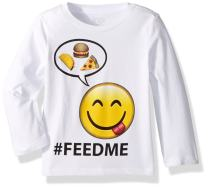 The Children's Place Baby Boys' Long Sleeved Feed Me Themed Tee