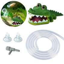 PULACO Aquarium Air Pump Accessories Crocodile Air Stone, Air Regulating Valve, Airline Tubing, Aquarium Decorations, Fish Tank Decor