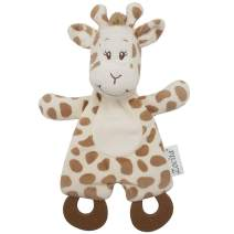Zocita Baby Security Blanket with Teethers, Plushy Soothing Toy for Toddlers, My First Animal Friend (Giraffe)