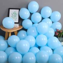 100 Pack 10 Inch Thicken Light Blue Balloons,Large Macaron Blue Latex Helium Balloons for Birthday Wedding Reception Bridal Shower Party Decorations Supplies
