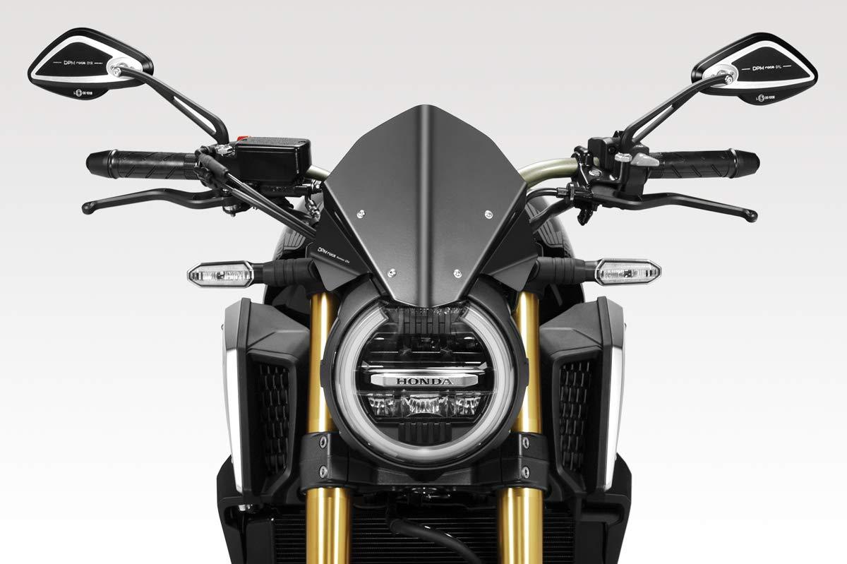 CB650R 2019/20 - Kit Windscreen 'Warrior' (R-0916) - Aluminum Windshield Fairing - Hardware Fasteners Included - De Pretto Moto Accessories (DPM Race) - 100% Made in Italy