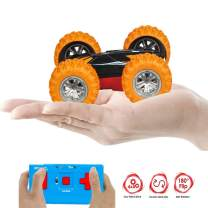 ZMZS RC Car Mini Remote Control Car for Kids, Double Sided Stunt Car Mini Remote Control Toys for Boys and Girls, Fast Off Road 2.4 GHz Cars Toys (Orange)