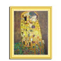 MTinHD 5D Diamond Painting Kits for Adults 16x20 inches Paint by Number, Klimt's Kiss
