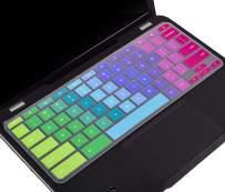 """Keyboard Skin Cover for 2019 2018 Lenovo Chromebook C330 11.6"""", Lenovo Flex 11 Chromebook 11.6, Lenovo Chromebook N20 N21 N22 N23 100e 300e 500e 11.6"""", Lenovo Chromebook N42 Keyboard Protector,Rainbow"""
