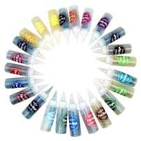 BTOYM 24 Bottles Tie Dye Kit,One-Step Colorful DIY Shirt Fabric Textile Tie Dye Kits Graffiti Paints Arts Clothes for Kids Adults Students
