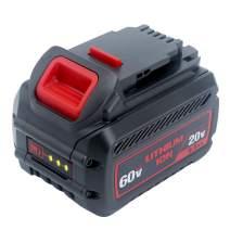 Elefly DCB606 20V/60V MAX 6.0Ah Li-ion Replace Battery for DeWalt 20 Volt / 60 Volt Lithium Battery DCB606 DCB612 DCB606-2 DCB609-2 DCB206 DCB204 DCB205 Li-ion 20V/60V/120V MAX Cordless Power Tools