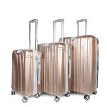 NEWCOM Luggage Sets 3 Pieces 20 Inch 24 Inch 28 Inch ABS+PC Hard Shell Rolling Suitcase Lightweight Hard-Sided Trolley Case Build-In TSA Lock with Spinner Wheels Champagne Golden